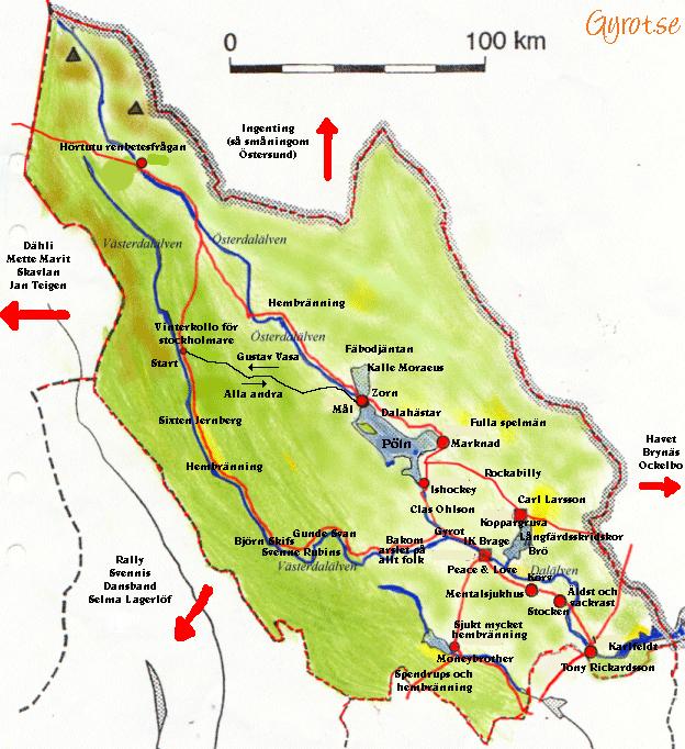 karta på dalarna Dalakarta | Gyrot karta på dalarna